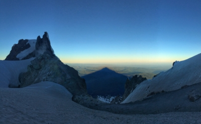 Mt. Hood's shadow stretching endlessly