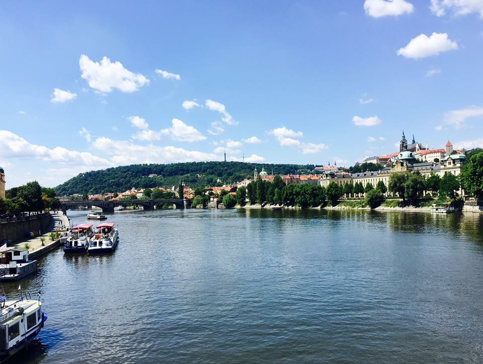 The views in Prague were absolutely stunning - in the background is the castle district!