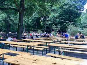 Hanging out at the beer garden in Tiergarten