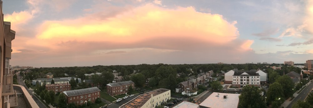 The sunset from my apartment last week -  I like this part of DMV.