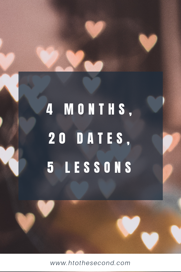 4 Months, 20 Dates, 5 Lessons