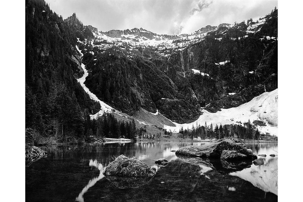 Seattle, Everett, Bellevue, Shoreline, Lynnwood, Edmonds, Bothell,  Washington, Pacific Northwest, Fine Art, Print, Art, Landscape, Environmental, mountain lake, snow, alpine