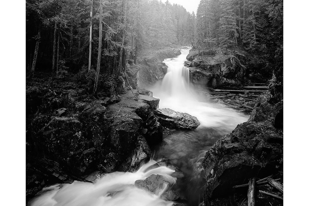 Seattle, Everett, Bellevue, Shoreline, Lynnwood, Edmonds, Bothell,  Washington, Pacific Northwest, Fine Art, Print, Art, Landscape, Environmental, Silver Falls, Mount Rainier National Park, Waterfall