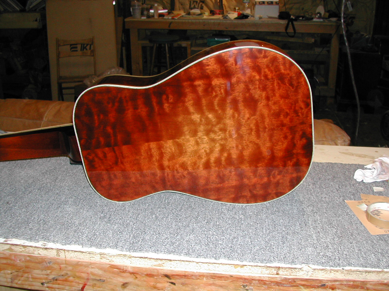 Honduras Mahogany $4300 - Honduran Mahogany has been making fantastic musical instruments for years. It is a stable, and dense wood that contribute to a warm and lively resonator guitar. I have a large supply of Honduran Mahogany that came out of a Veneer mill assembly line in the 40's. The wood is perfectly quartersawn and is of the finest example of Mahogany for acoustic instruments.Standard Features:Honduras Mahogany Top,Back and SidesSitka Spruce Top optionOne piece Mahogany NeckIvoroid binding