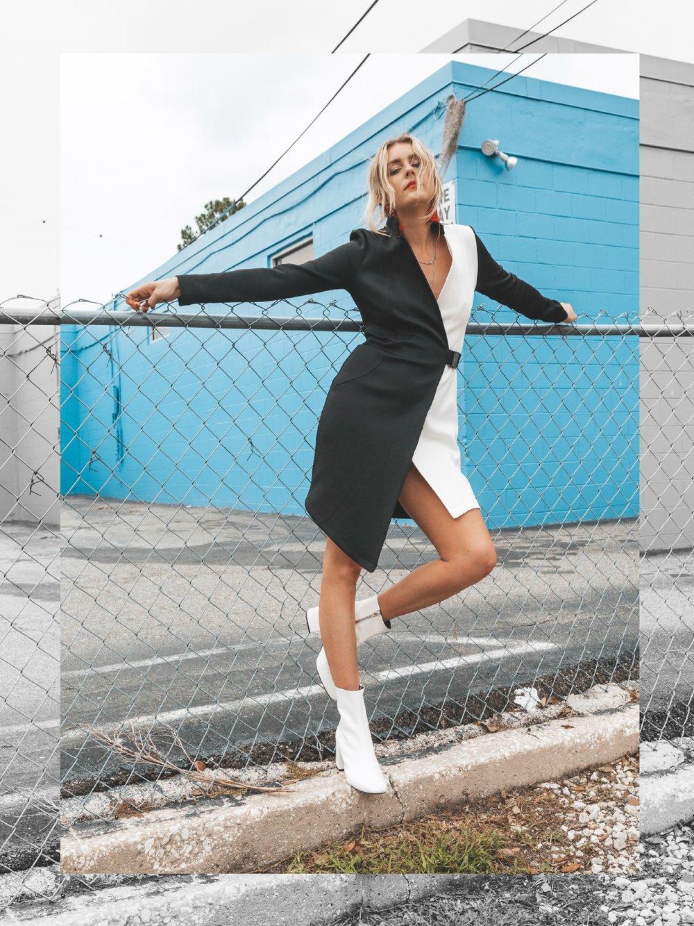 ASOS Colorblock Blazer Dress