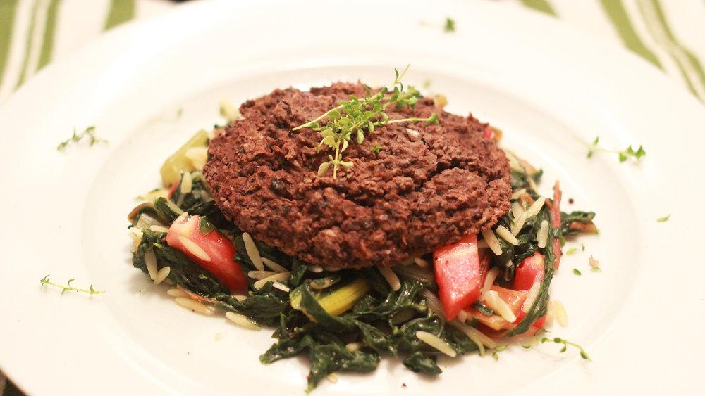 Baked Black Bean Burger - Baked.Vegan.Black Bean Burger.Yeah.Click on the image for the full recipe!