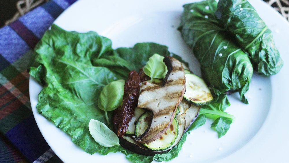 Collard Wraps - The 2 a.m. burrito alternative.Click on the image for the full recipe!