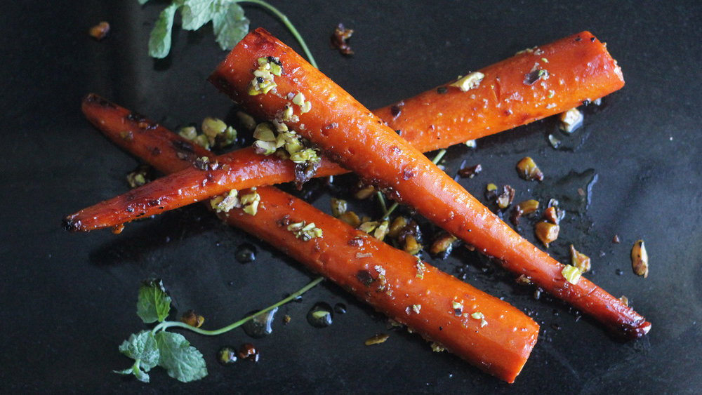 Pistachio Agave Roasted Carrots - You heard me.Click on the image for the full recipe!