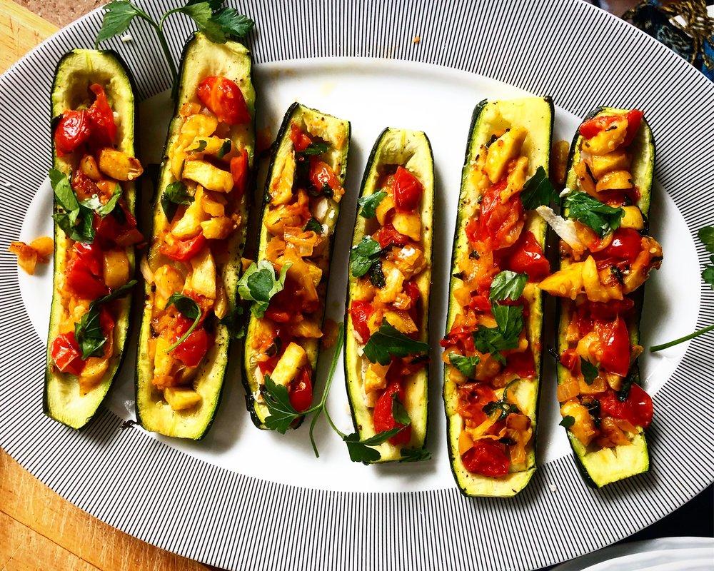 Zucchini Ripieni - Oh, so good.Click the image for the full recipe!