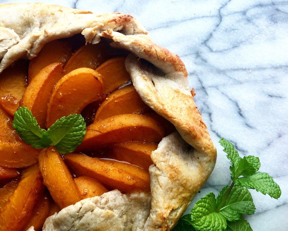 Vegan Apricot Galette - Close your eyes & enjoy the taste of summer.Click the image for the full recipe!