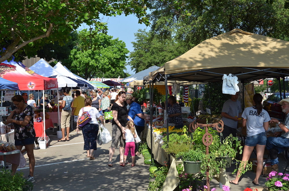 Our seasonal Farmer's Market draws people from the local and surrounding communities every Saturday morning in the spring. (photo c/o Planet Rockwall)