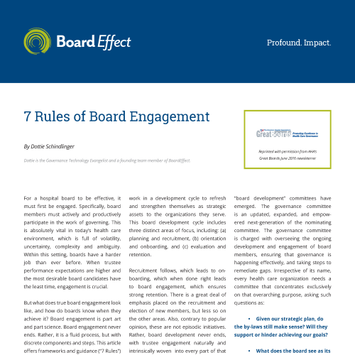 THE 7 RULES OF BOARD ENGAGEMENT