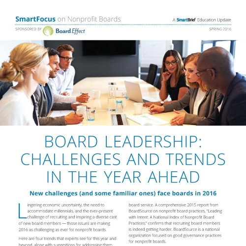 BOARD LEADERSHIP: CHALLENGES & TRENDS