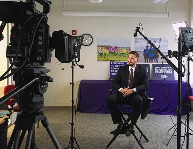 Thankful for the time and hospitality of the Alzheimer's Association Massachusetts/New Hampshire Chapter! Today we had a wonderful interview with Daniel Zotos, Director of Public Policy & Advocacy. #EndAlz #TheFinalClimb #alzheimersassociation #alzheimers