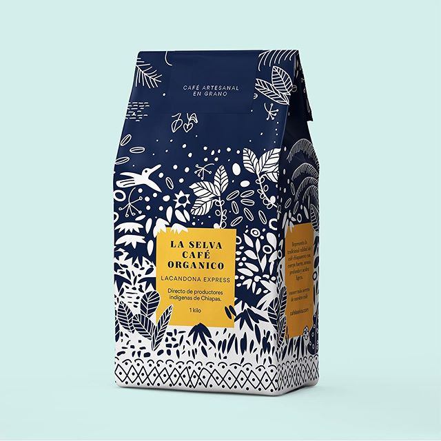 La Selva Café offers certified organic products, cultivated with care and without chemicals in harmony with the jungles and forests of Chiapas. .  #packagedesign #packaging #design #empaques #diseño #設計 #дизайн #التصمیم #desenhar #conception #brand #graphic #graphics #creative #designer #graphicdesign #creativity #brandingイン #logo #illustration #mexico #mexicodesign