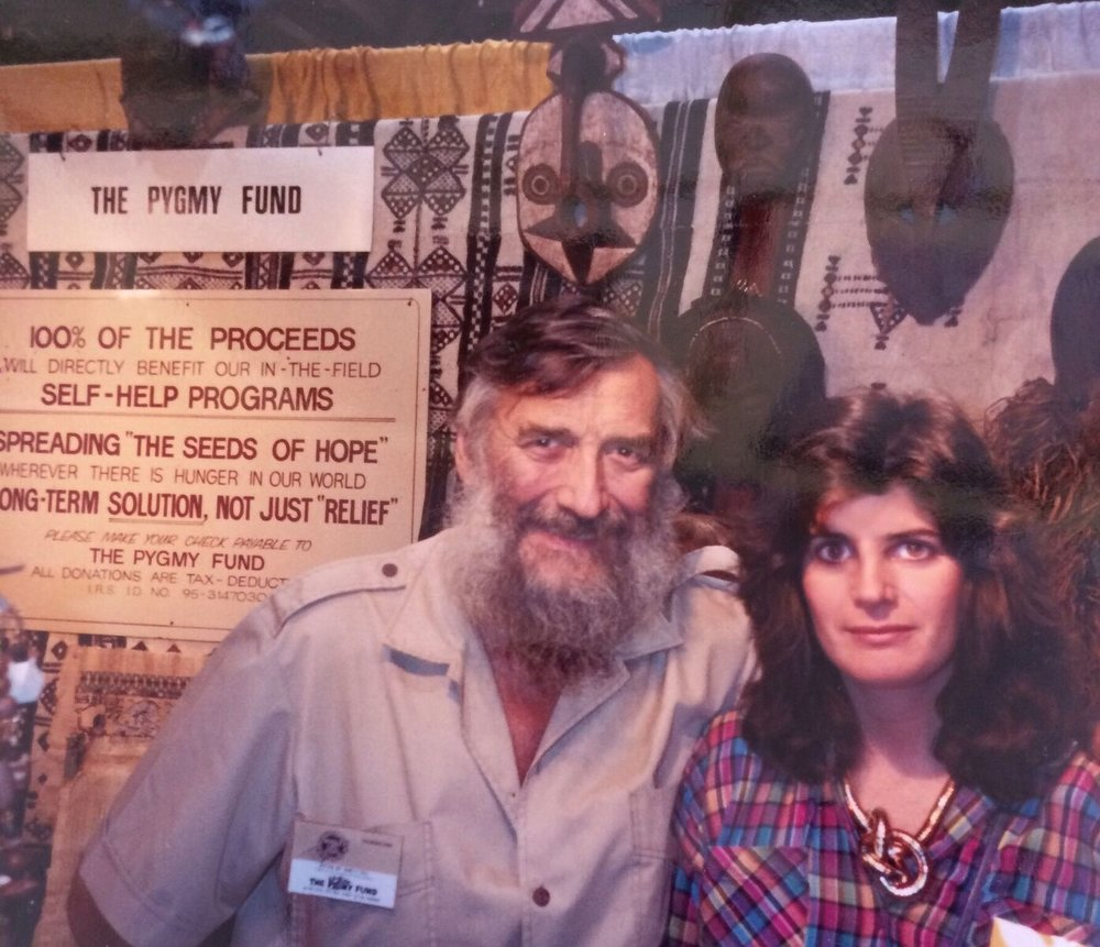 Susan and JP Hallet met back in 1985. Here she joined him at his shop in Santa Monica where he sold beads and African artwork to support ongoing efforts on behalf of the Pygmies.