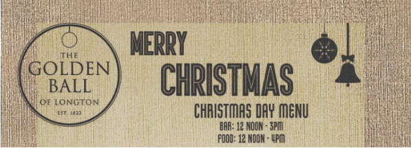 This year we will also be offering food on Christmas Day.  Take a look at the menu  here . Christmas day is pre booking only, £20 deposit per person To pre book pop in and speak to a member of the team or call 01772 613 527
