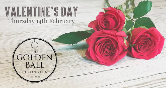 VALENTINE'S MENU   A special day deserves a special menu and that is exactly what we have for you here.  There will be 2 sittings. 5pm - 6.15pm - £35 per person 6.15pm onwards - £45 per person  Pre-booking only. To book call 01772 613 527.  To see the  full menu click here