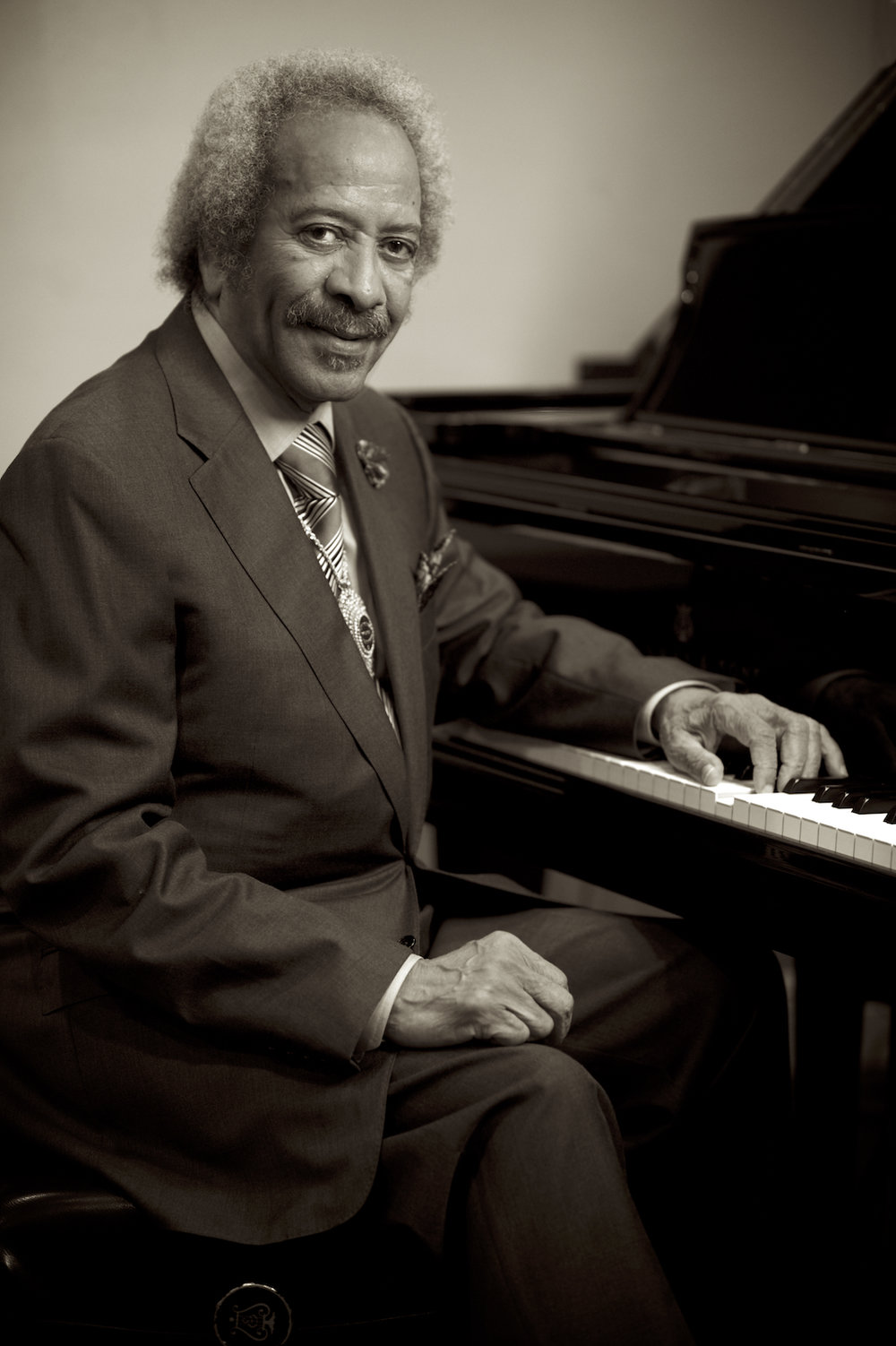 Allen Toussaint, photographed by New Orleans based photographer, Marc Pagani