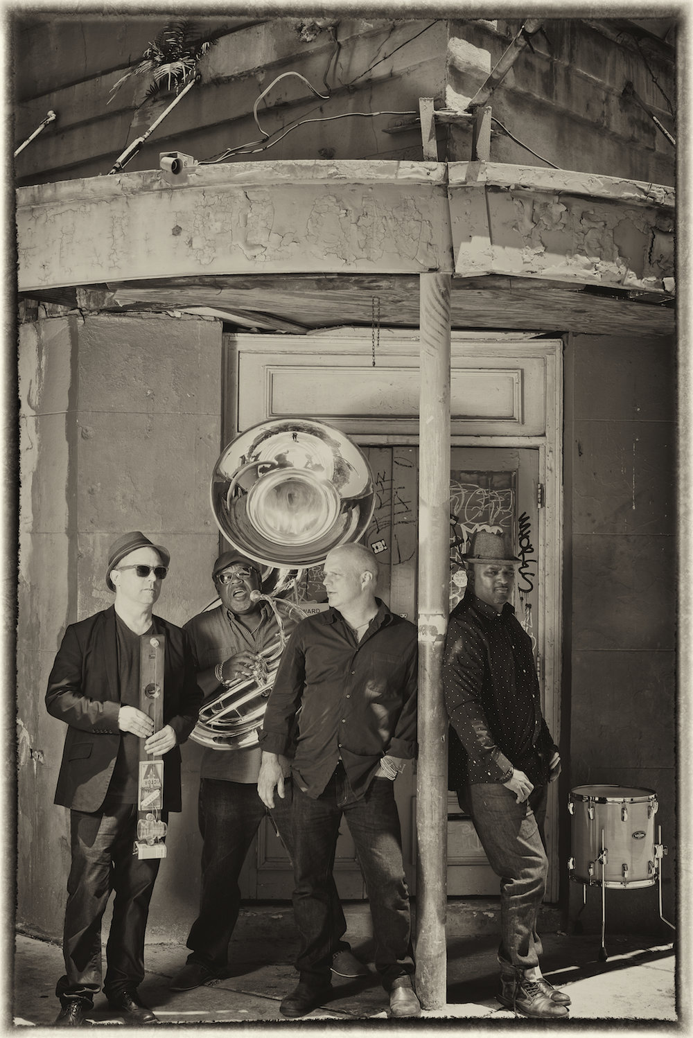 Mad Skillet, with John Medeski, Will Smith, Kirk Joseph and Terence Higgins, photographed by New Orleans based photographer, Marc Pagani