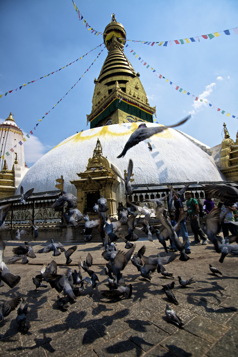Boudhanath Stupa and Temple in Kathmandu, Nepal.  Image by New Orleans based travel photographer, Marc Pagani
