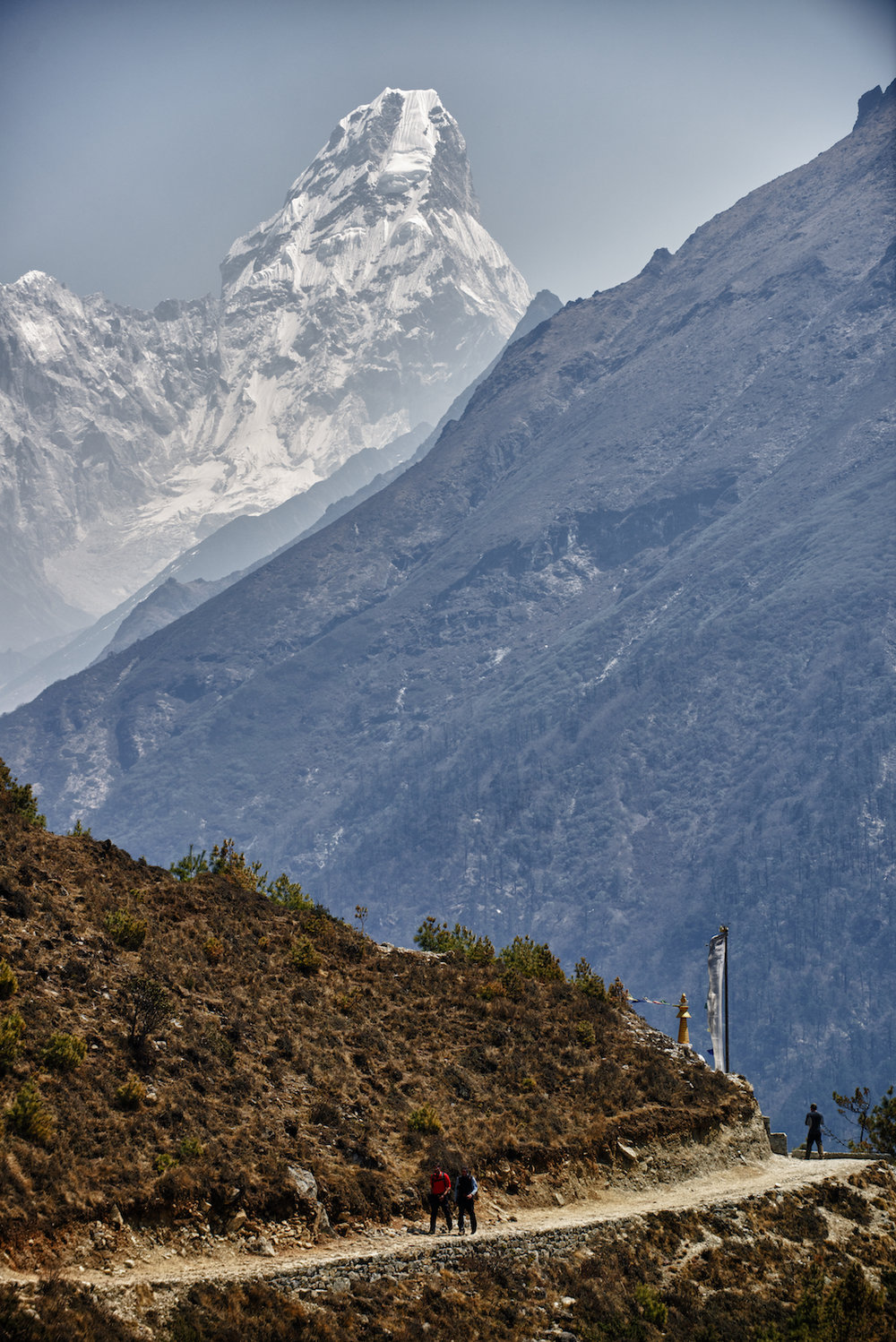 Ama Dablam and the trail to Mount Everest base camp in the Nepal Himalayas.  Image by New Orleans based travel photographer, Marc Pagani - marcpagani.com