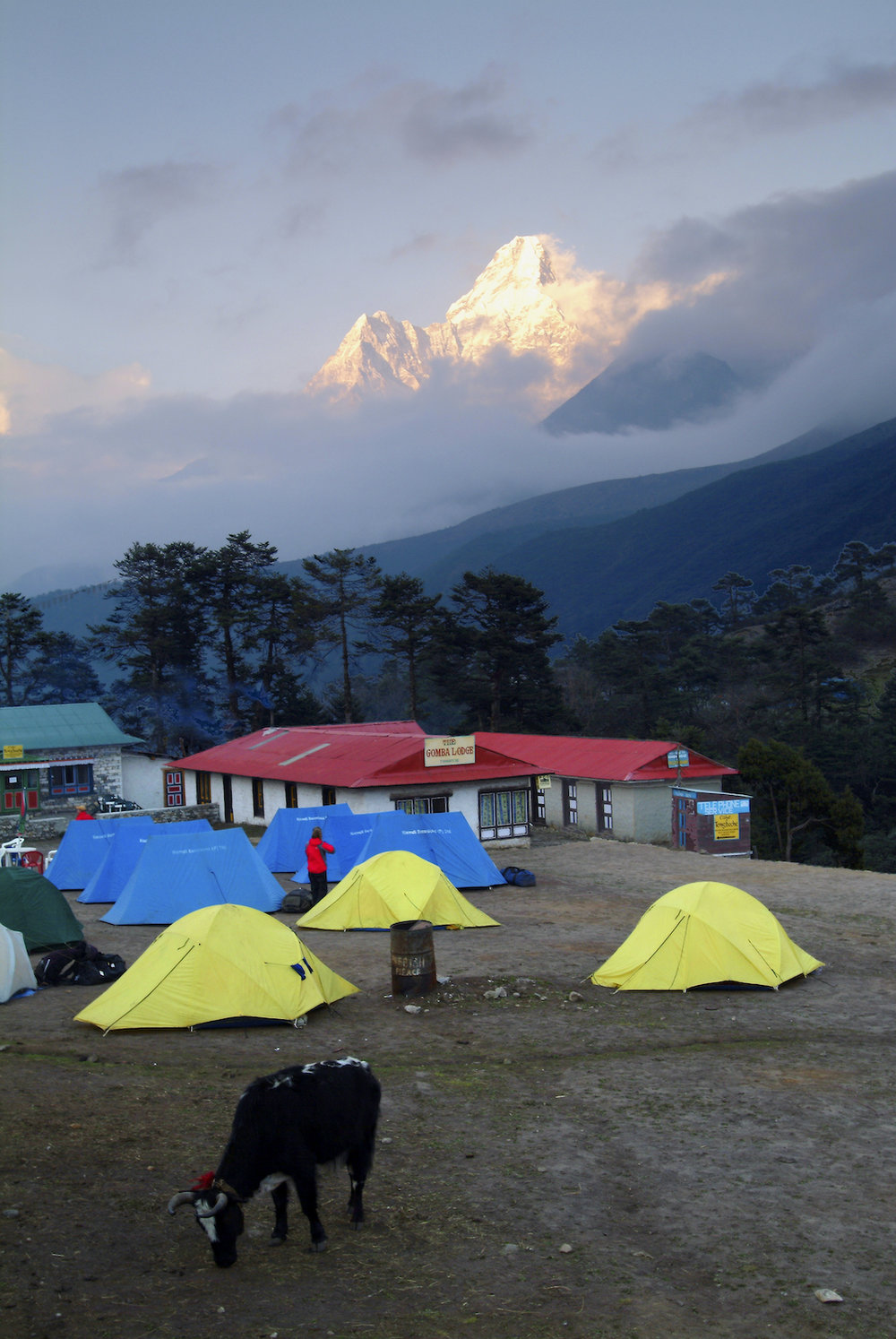 tents at Tengboche Monastery in the Nepal Himalays.  Image by New Orleans based travel photographer, Marc Pagani - marcpagani.com