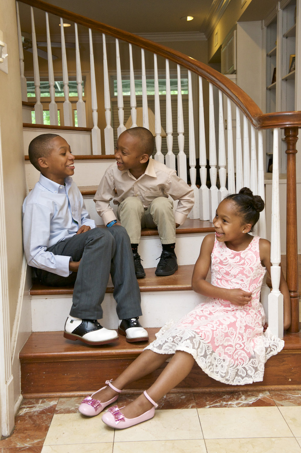 Children at their home in English Turn, New Orleans.  Photo by New Orleans based photographer, Marc Pagani