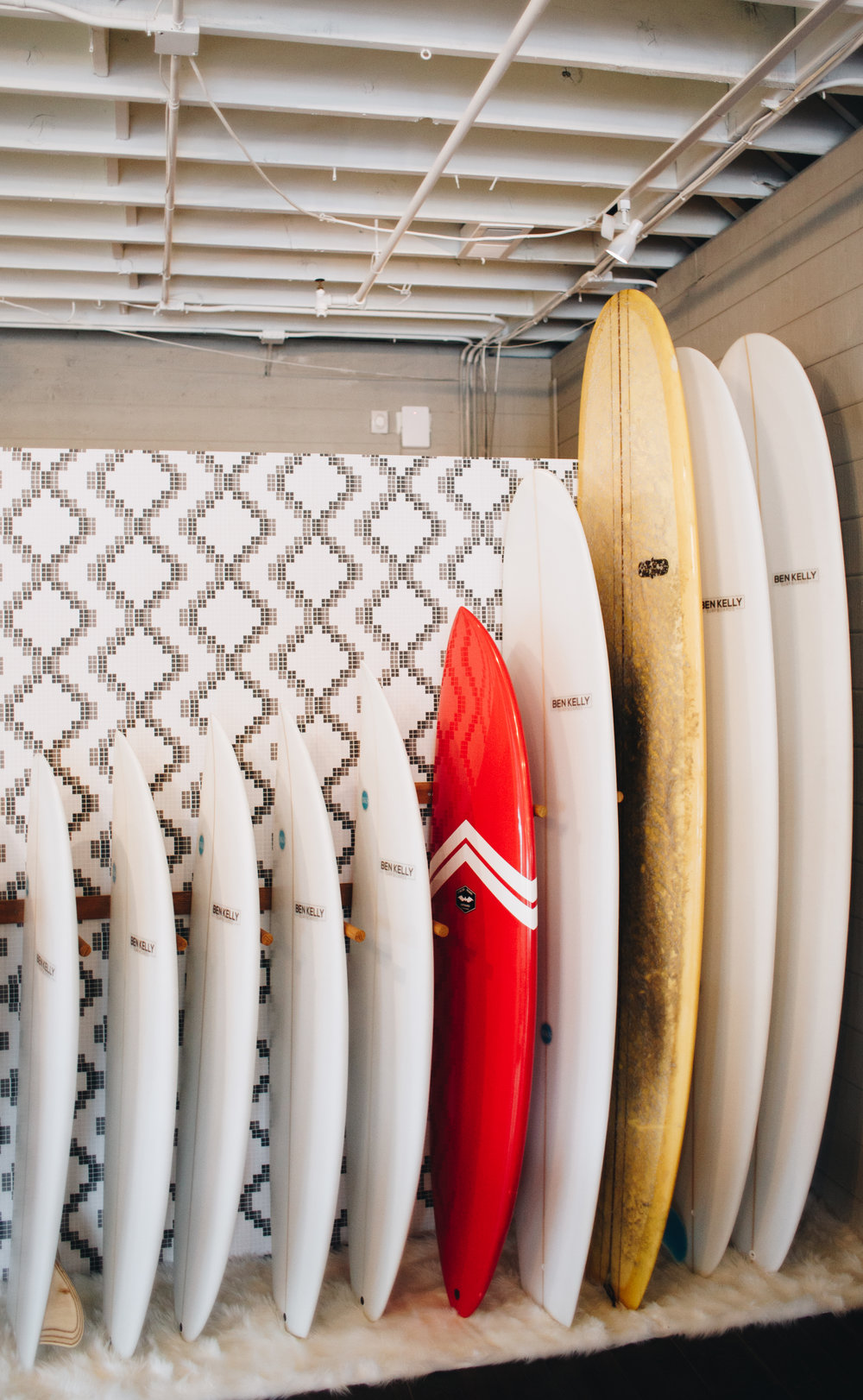 - We've already brought two distinct Santa Cruz board shapers- Ben Kelly and CJ Nelson - into our shop and are displaying their boards for sale! We've put some art on the walls and would love to have tons more from the folks around us. If you're a big time shredder, we'd love to chat about potentially getting you on our surf team. And as a little glimpse into the future, we have some party plans in the beginning stages where we invite everyone to come and hang out.