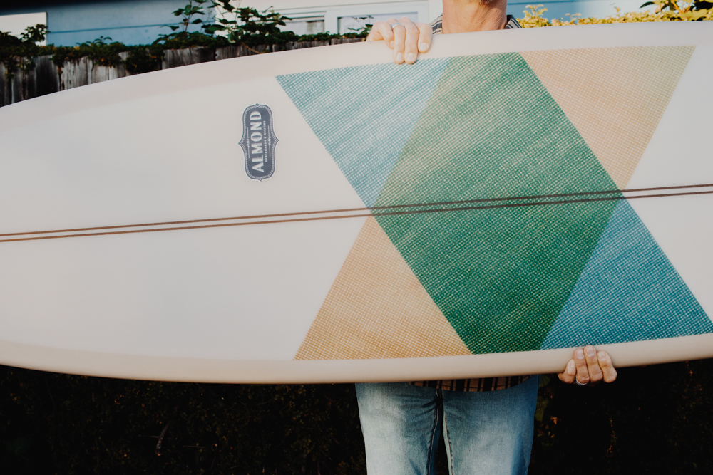 "Almond Surfboards: - A small but mighty team of people from Costa Mesa, CA. Their thing is making ""good, honest stuff for good, honest people."" And honestly they do an incredible job. We finally got some of their boards and fins in the shop this past week – and we couldn't be happier. Especially because one of their biggest goals is to blend quality with durability and make boards that people hand down to the next generation.Check out their website."