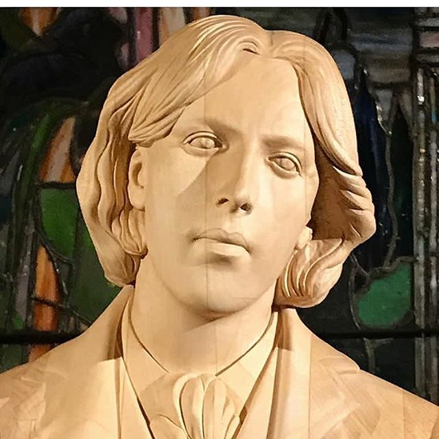 Regram @matthewhiggs2015 our patron saint Oscar Wilde up close and personal. The Temple is open tomorrow 12-3pm in the West Village. Come one come all !