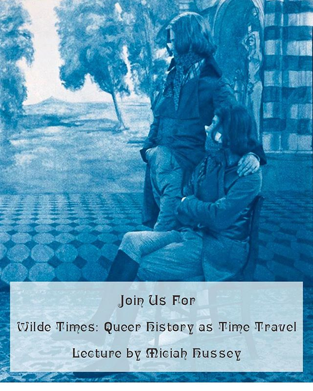 The brilliant Miciah Hussey will be giving a lecture on time travel and queer Victorian culture at the Oscar Wilde Temple on Wednesday November 15th from 6:30pm. Come back in time with us and enjoy 🔮