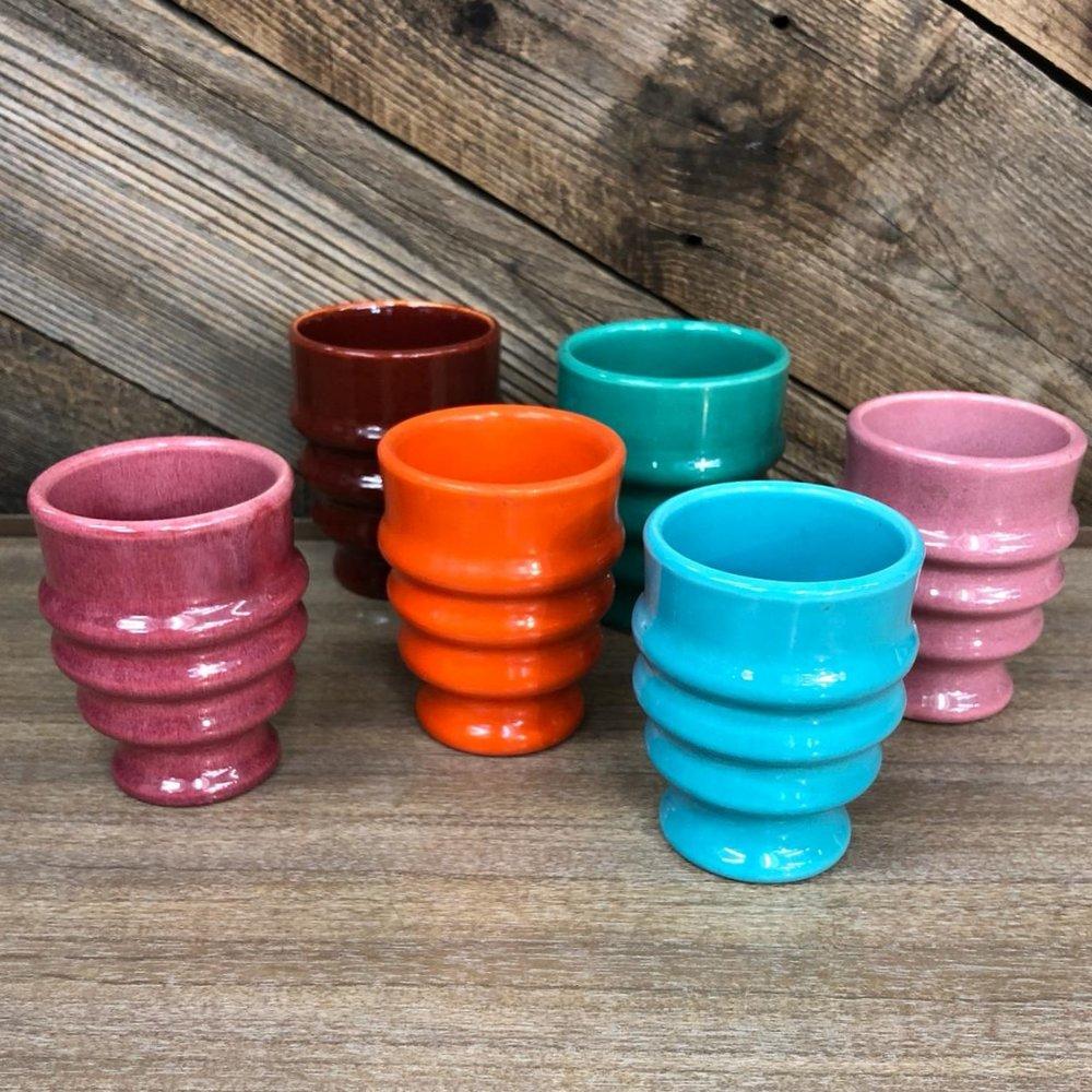 Metlox Pottery Tumblers (set of six), $95