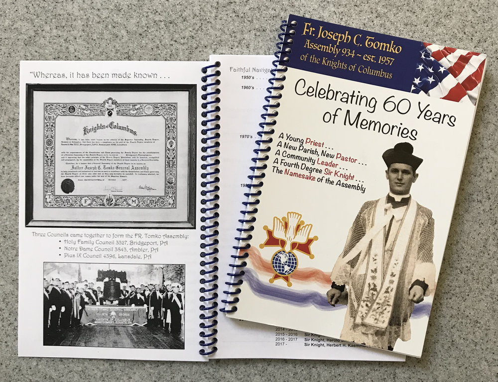 Historical booklet celebrating the life of Rev. Fr. Joseph C. Tomko