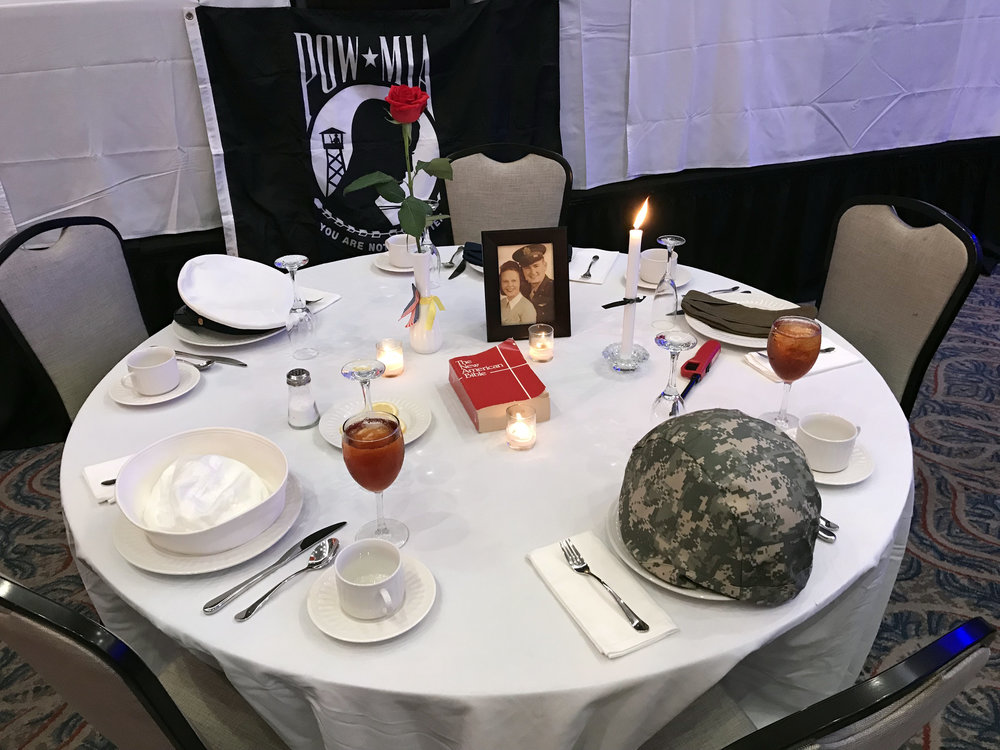 A table for those who served and not forgotten.