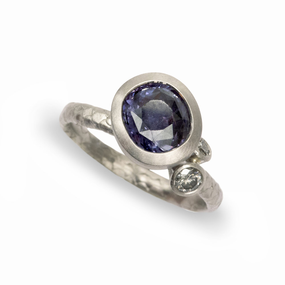 grey sapphire saddle anna beck major mint ring