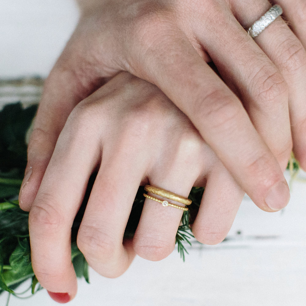 Catkin Wedding Ring — Alison Macleod Jewellery