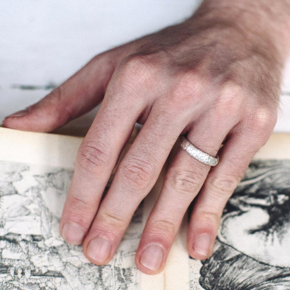 Mens Catkin Wedding Ring — Alison Macleod Jewellery