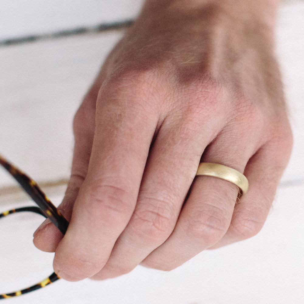 Mens Pebble Wedding Ring — Alison Macleod Jewellery