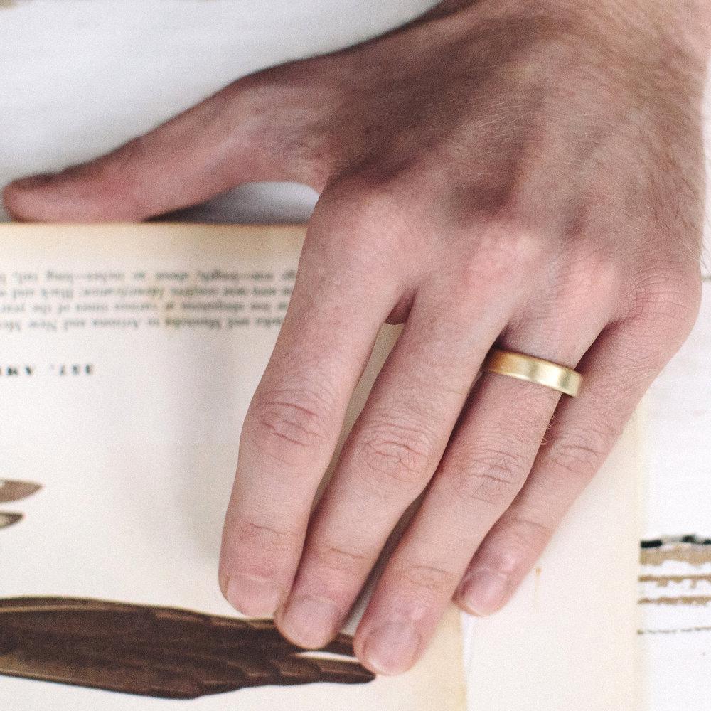 Mens Pillow Wedding Ring — Alison Macleod Jewellery