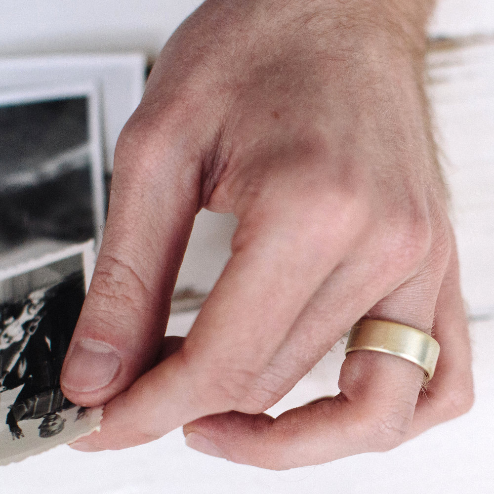 Mens Wide Pillow Ring Wedding Ring — Alison Macleod Jewellery