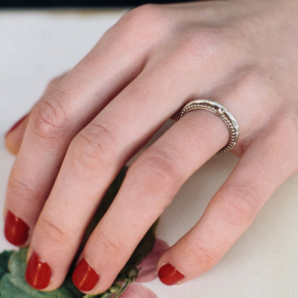 Sculpted Wedding Ring — Alison Macleod Jewellery