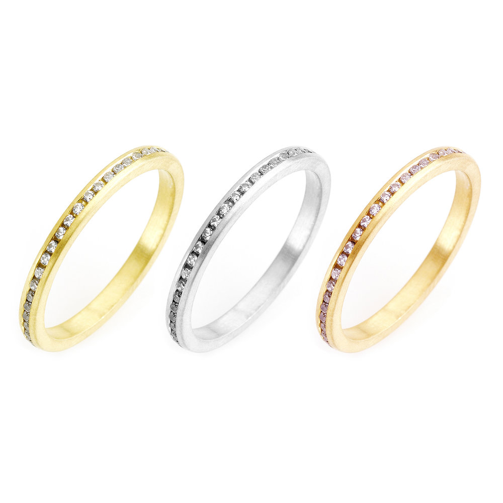4e64cf7074dde0 Slim Diamond Eternity Ring — Alison Macleod Jewellery
