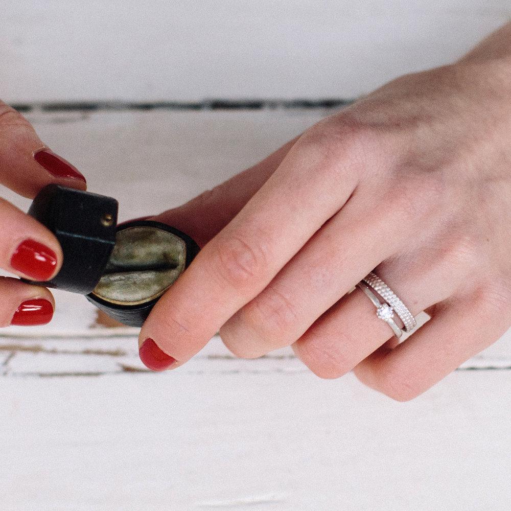 Triple Dotty Wedding Ring — Alison Macleod Jewellery