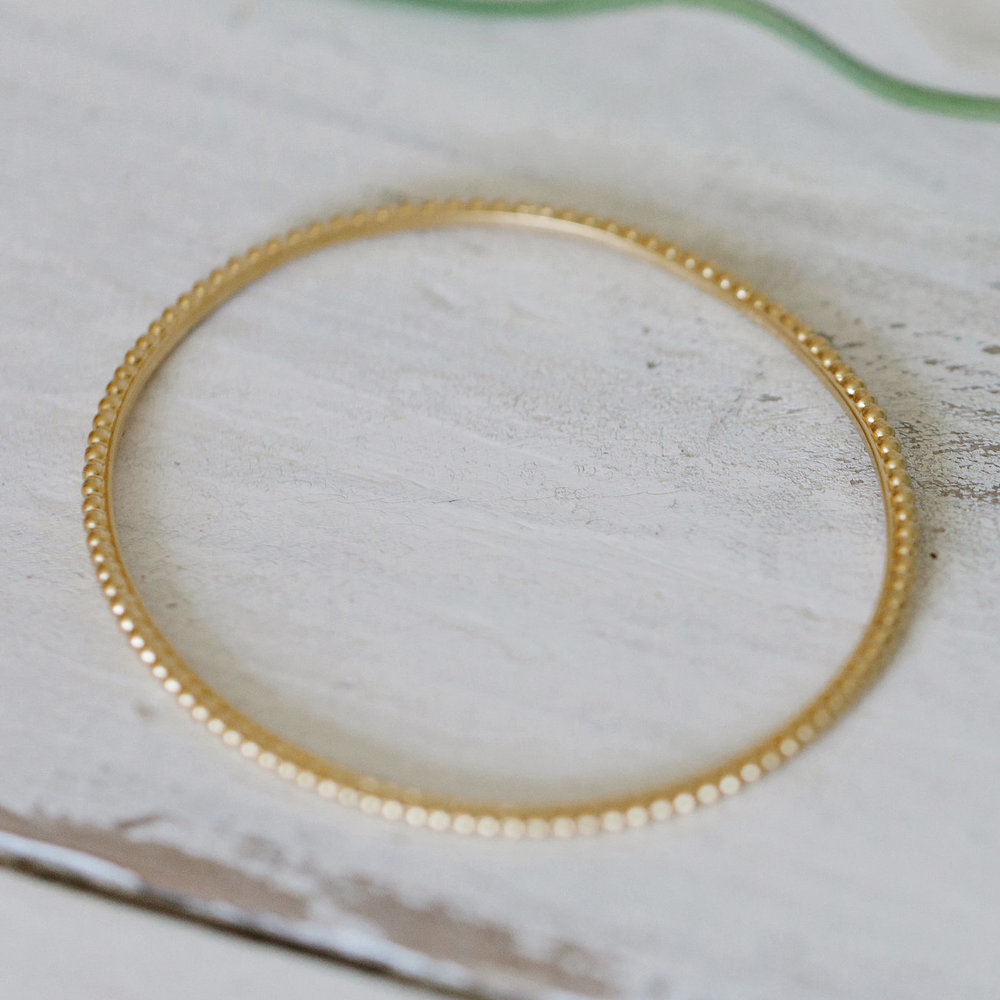 Dotty Frame Bangle — Alison Macleod Jewellery