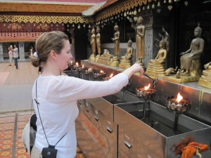 Sacred lamps Doi Suthep