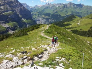 Hiking down from Kl Scheidegg
