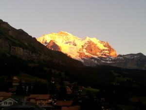 Jungfrau from Wengen - last light