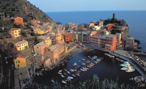 Vernazza view from the trail to Monterosso