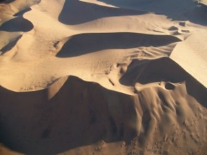 Namib dunes from air